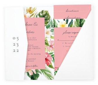 Paradise of Love Pocket Invitations