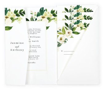 Wedding Florals Pocket Invitations