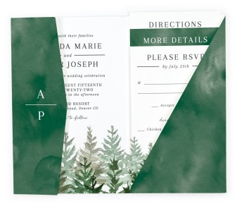 Ethereal Evergreens Pocket Invitations