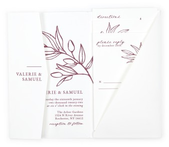 Branch Sketch Pocket Invitations