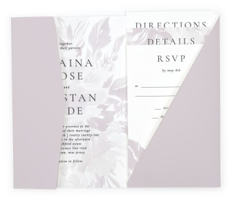 Floral Burst Pocket Invitations