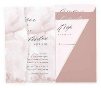 Gentle Touch Pocket Invitations