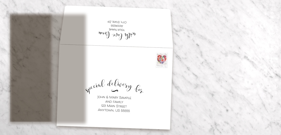 Invitation Front with Optional Mailing Service