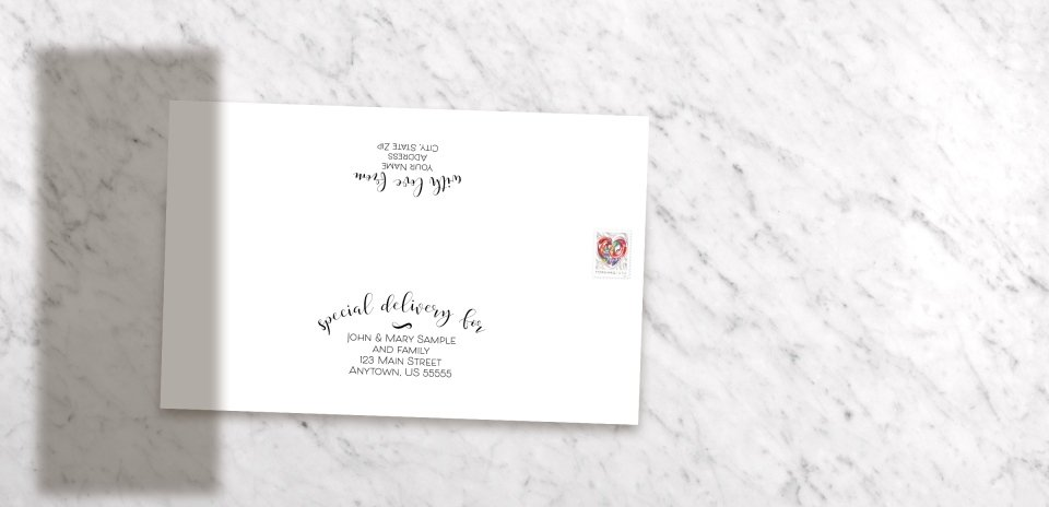 Invitation with Optional Mailing Service