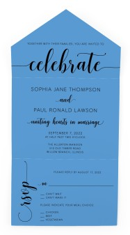 True Celebration All-in-One Wedding Invitations