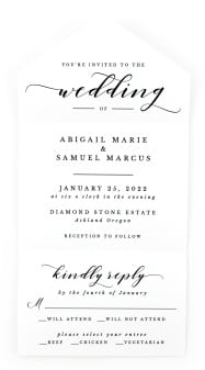 Timeless Eloquence All-in-One Wedding Invitations