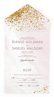 Tender Mist All-in-One Wedding Invitations