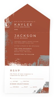 Set in Stone All-in-One Wedding Invitations