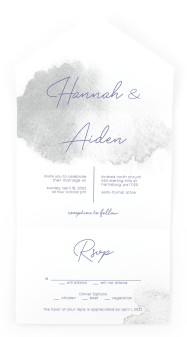 Watercolor Rapture All-in-One Wedding Invitations