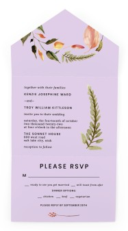 Faintly Fall All-in-One Wedding Invitations