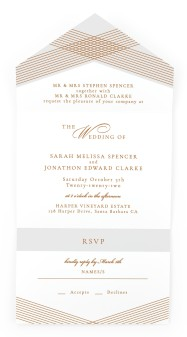 Dearest Lines All-in-One Wedding Invitations