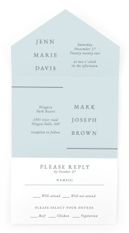 Adorable Duo All-in-One Wedding Invitations