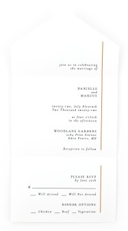 Laughing Hearts All-in-One Wedding Invitations