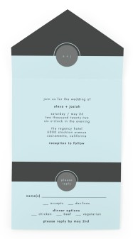 Our Beginning All-in-One Wedding Invitations