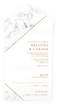 Bold Banner All-in-One Wedding Invitations