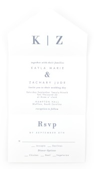 Perfect Picture All-in-One Wedding Invitations