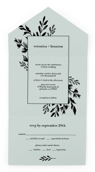 Stacked Squares All-in-One Wedding Invitations