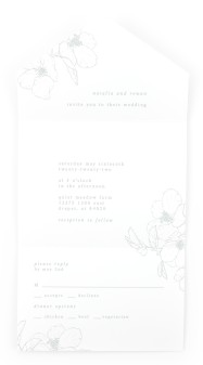 Hibiscus Hideaway All-in-One Wedding Invitations