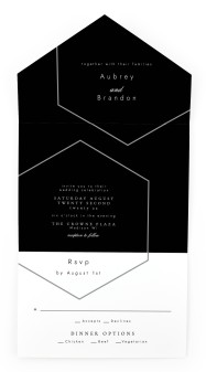 Love's Ribbon All-in-One Wedding Invitations