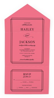 Because You're Mine All-in-One Wedding Invitations