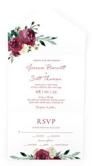 Floral Touch All-in-One Wedding Invitations
