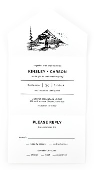 Mountain Romance All-in-One Wedding Invitations