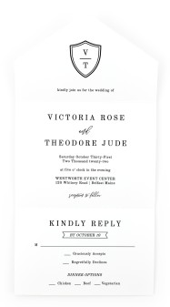 Shield of Love All-in-One Wedding Invitations