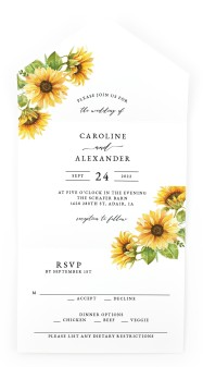 Sunflower Bliss All-in-One Wedding Invitations