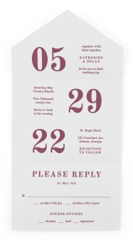 Glory Day All-in-One Wedding Invitations