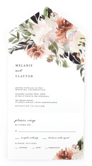 Natural Love All-in-One Wedding Invitations