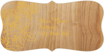 Rustic Woodgrain Return Address Labels
