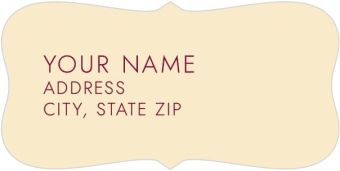 Country Florals Return Address Labels
