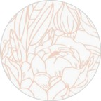 Floral Outline Envelope Seals