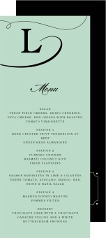 Grand Soiree Wedding Menu Cards