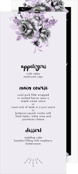 Winsome Bouquet Wedding Menu Cards