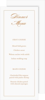 Classic Devotion Wedding Menu Cards