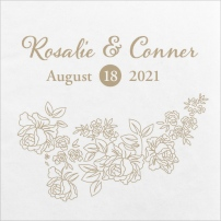 Rustic Woodgrain Wedding Napkins
