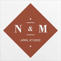 Classic Couple Wedding Napkins