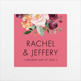 Country Florals Wedding Napkins