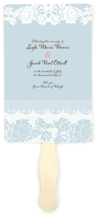 Classic Lace Wedding Program Fans