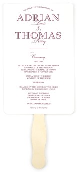 Formal Statement Wedding Program Fans