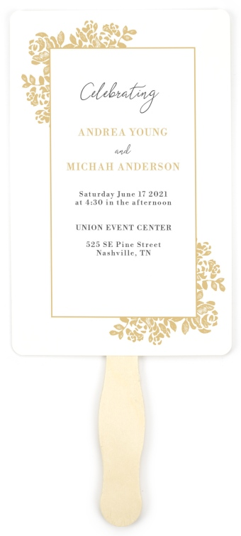 Etched Elegance Wedding Program Fans