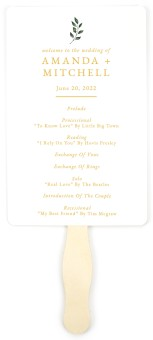 Sprinkled Sprig Wedding Program Fans