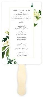 Wedding Florals Wedding Program Fans