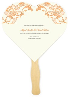 Vintage Applique Wedding Program Fans