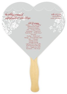 Modern Honeycomb Lace Wedding Program Fans