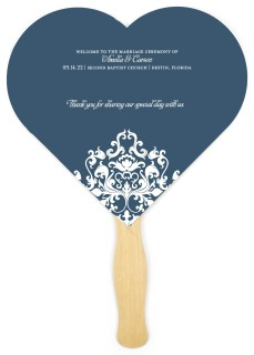 Flawless Filigree Wedding Program Fans