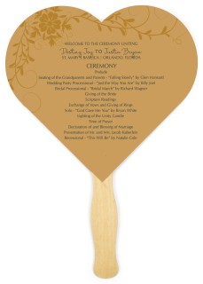 Botanical Grace Wedding Program Fans