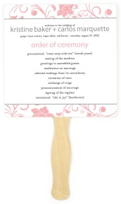 Flower Enchantment Wedding Program Fans