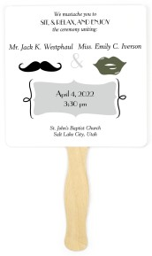 Mustache You to Wed Wedding Program Fans